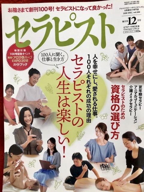 セラピーの専門誌『セラピスト』12月号に掲載されました_c0145654_16170494.jpeg