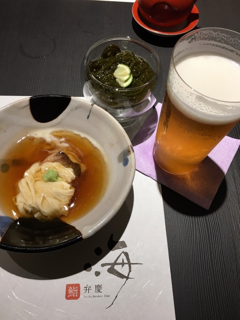 新潟 2 【9/11 古町で飲む! 1軒目 『鮨 弁慶 海』】_d0061678_11060293.jpg