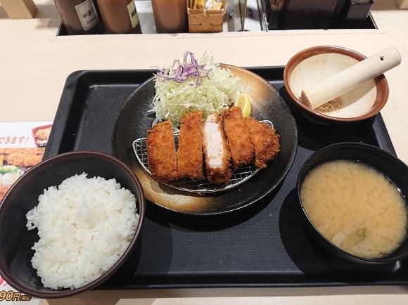 9/16 松のやル・シーニュ府中店 厚切りロースかつ定食 ¥680_b0042308_20132153.jpg