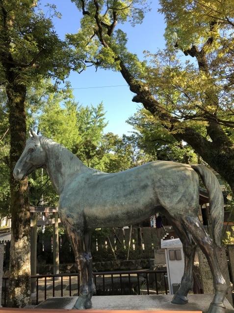 馬と鹿_b0409627_10340628.jpg