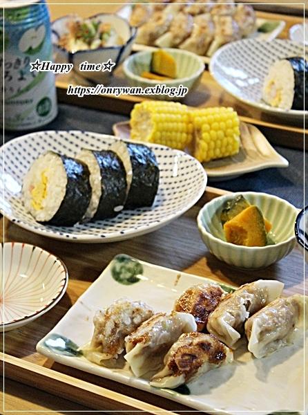 作りおき弁当と今夜のおうち呑みおかず♪_f0348032_18270336.jpg