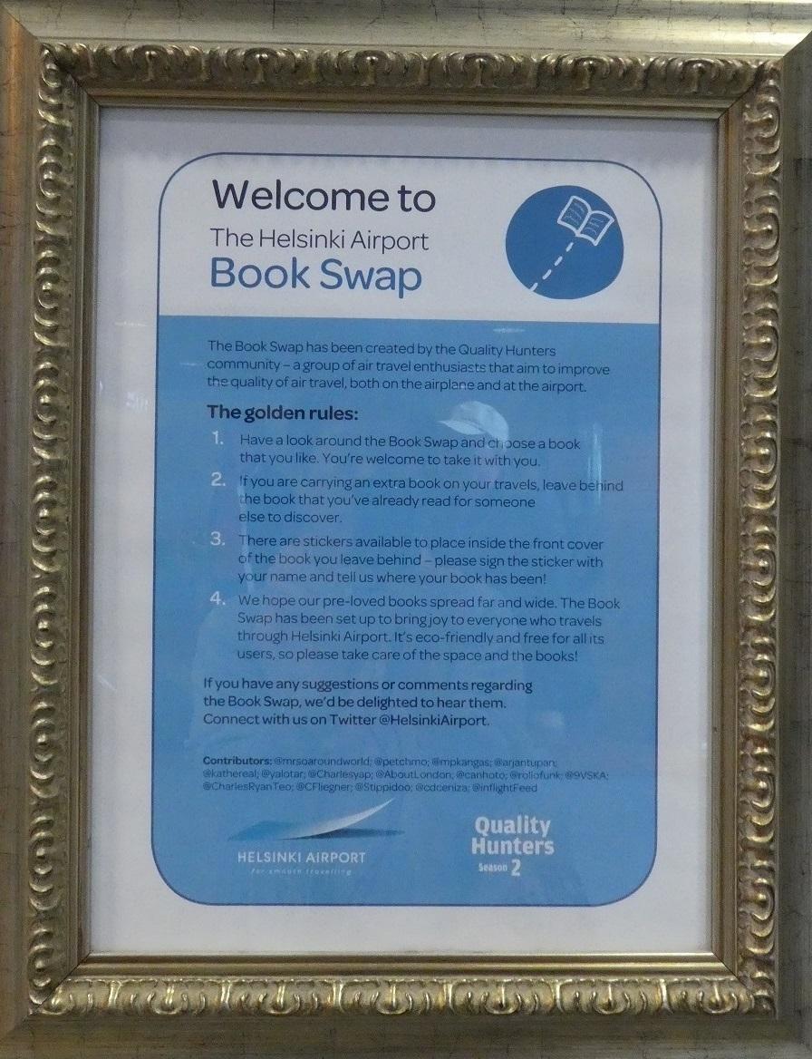 ヘルシンキ空港の Book Swap_d0288144_22461846.jpg