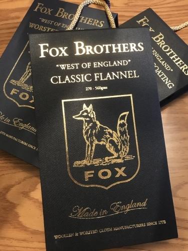 2019‐2020 秋冬の新着!「FOX BROTHERS」 編_c0177259_20044274.jpeg