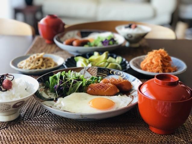 常備菜で朝ご飯_d0327373_08424242.jpeg
