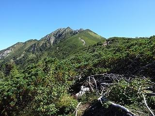 旧歩荷道から西穂高岳_e0064783_19400905.jpg
