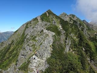 旧歩荷道から西穂高岳_e0064783_19413249.jpg