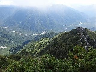 旧歩荷道から西穂高岳_e0064783_19433770.jpg