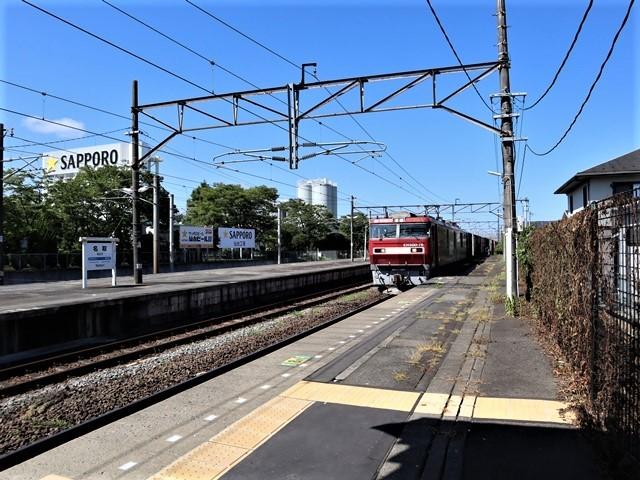 藤田八束の鉄道写真@鹿児島空港には可愛い飛行機がいっぱいです。鹿児島空港から離島めぐり、最近離島めぐりが大人気・・・鉄道も人気上昇中、私は貨物列車が大好き_d0181492_00162691.jpg