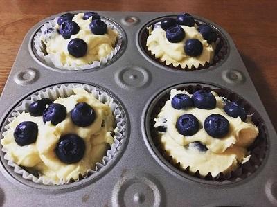 炊飯器で作る餡子 ブルーベリーマフィン_f0231189_08320713.jpg