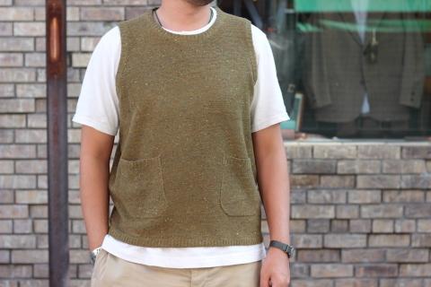 """「dip」 コーディネートが楽しくなる \""""Knit Vest\"""" ご紹介_f0191324_08050420.jpg"""