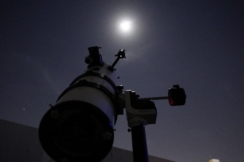 なんちゃってR200SSの筒で遊ぶ(2) AZ-GTiに載せて月を撮る_a0095470_23100703.jpg