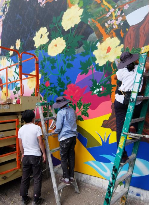 日本人アーティスト、松山智一さんによるバウリー壁画の作り方_b0007805_06541378.jpg