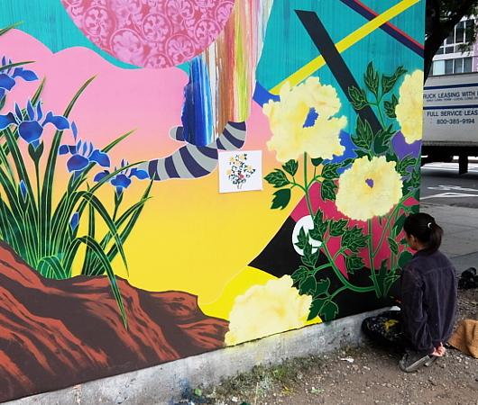日本人アーティスト、松山智一さんによるバウリー壁画の作り方_b0007805_06552100.jpg
