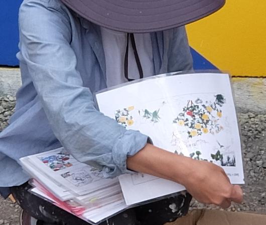 日本人アーティスト、松山智一さんによるバウリー壁画の作り方_b0007805_07040961.jpg