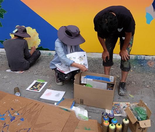 日本人アーティスト、松山智一さんによるバウリー壁画の作り方_b0007805_07044786.jpg