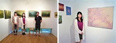2019.9.20  『絵画3人展~点と色と自然∼』開催中!_e0189606_13200156.jpg
