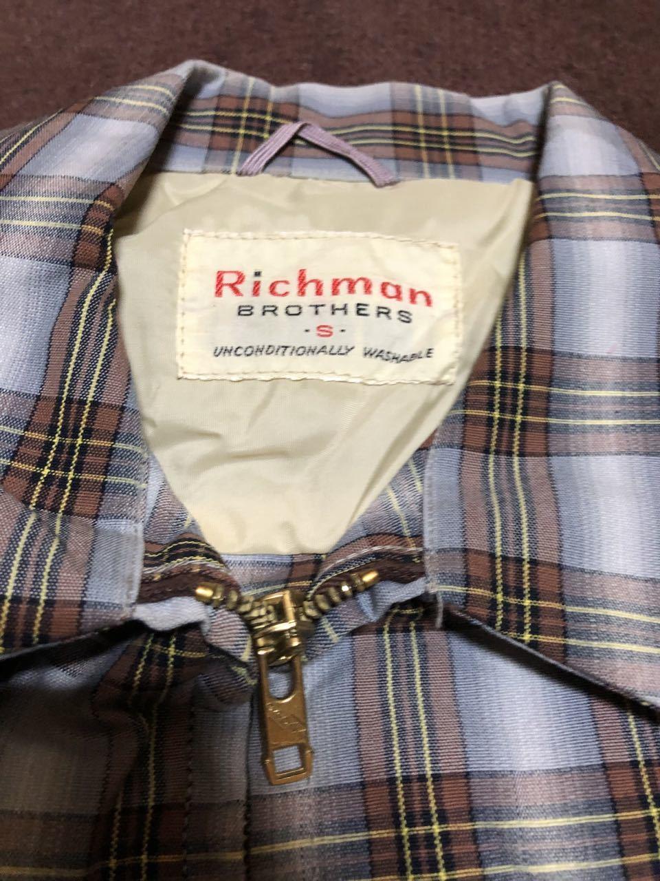 アメリカ仕入れ情報#28  50s RICHMAN BROTHERS コットン ポプリンジャケット!_c0144020_13385731.jpg