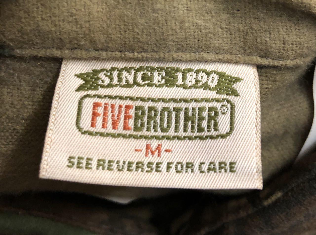 アメリカ仕入れ情報#30 90s デッドストック FIVE BROTHERS all cotton シャモアクロス ネルシャツ!_c0144020_14114684.jpg