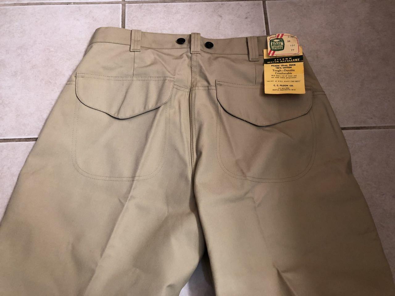 アメリカ仕入れ情報#33 デッドストック 80s FILSON  HUNTING PANTS !_c0144020_15230690.jpg