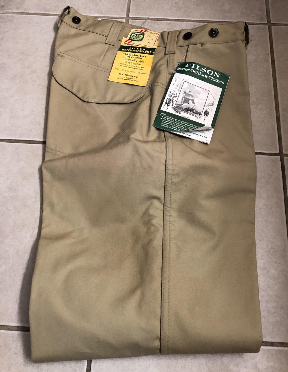 アメリカ仕入れ情報#33 デッドストック 80s FILSON  HUNTING PANTS !_c0144020_15230804.jpg