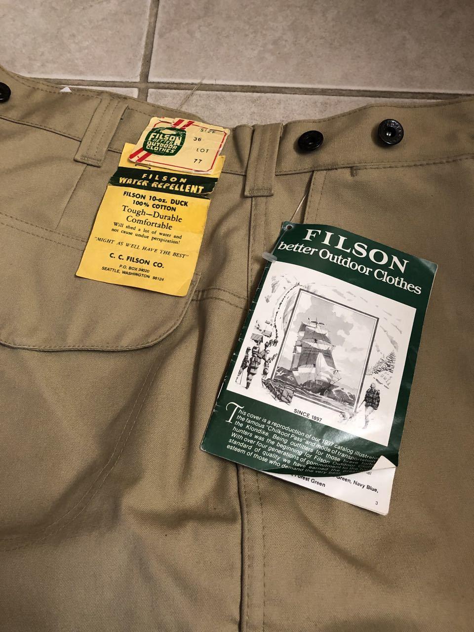 アメリカ仕入れ情報#33 デッドストック 80s FILSON  HUNTING PANTS !_c0144020_15231028.jpg