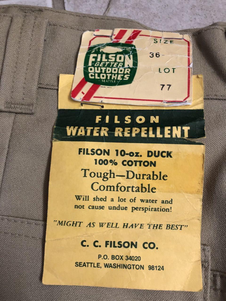 アメリカ仕入れ情報#33 デッドストック 80s FILSON  HUNTING PANTS !_c0144020_15231123.jpg