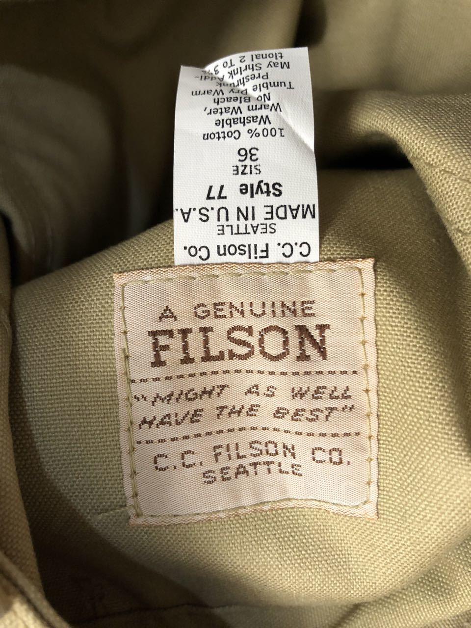 アメリカ仕入れ情報#33 デッドストック 80s FILSON  HUNTING PANTS !_c0144020_15231368.jpg