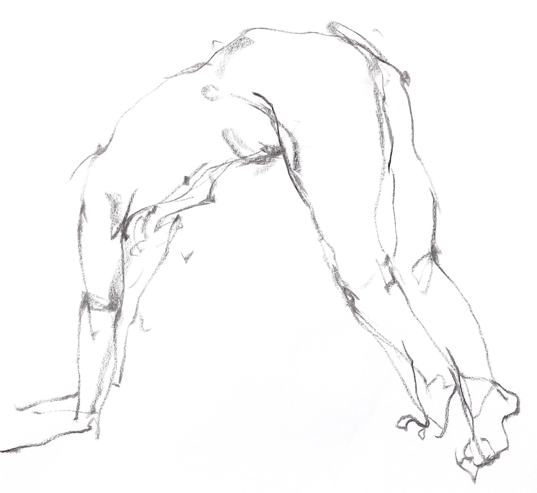 《  秋の始めの 裸婦線描 90秒 4 》_f0159856_09302873.jpg