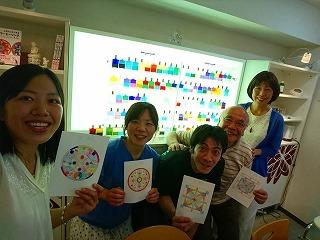 マンダラぬりえでカラーセラピー 東京&名古屋_c0200917_02212117.jpg
