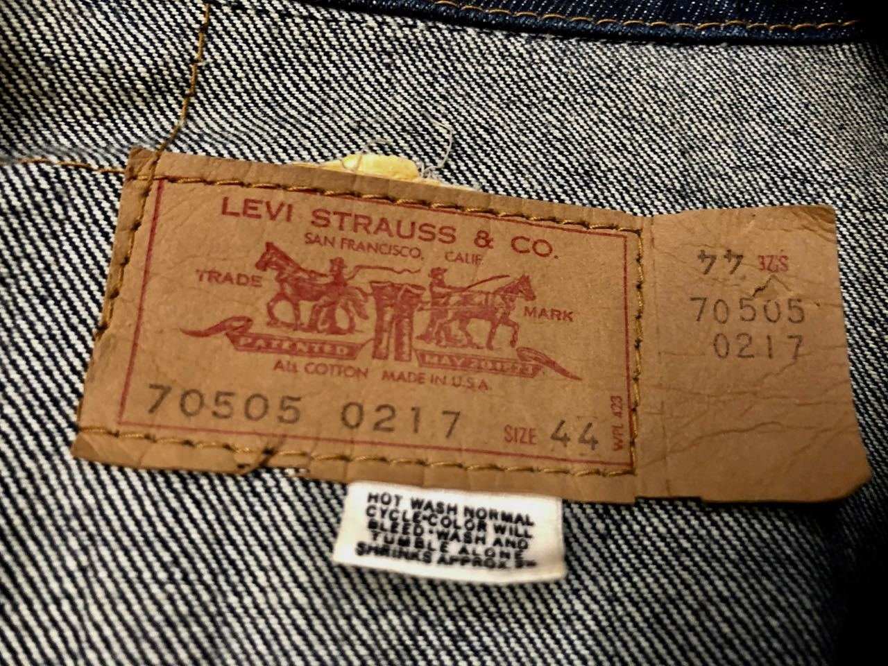 アメリカ仕入れ情報#35 デッドストック 80s Levi\'s 70505  DENIM JACKET_c0144020_14315377.jpg
