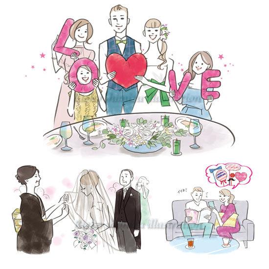 結婚情報誌「こまちWedding」イラスト_f0227738_12122292.jpg