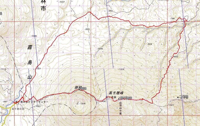 天孫降臨コースから高千穂峰周回コースを歩く_e0164643_22324608.jpg