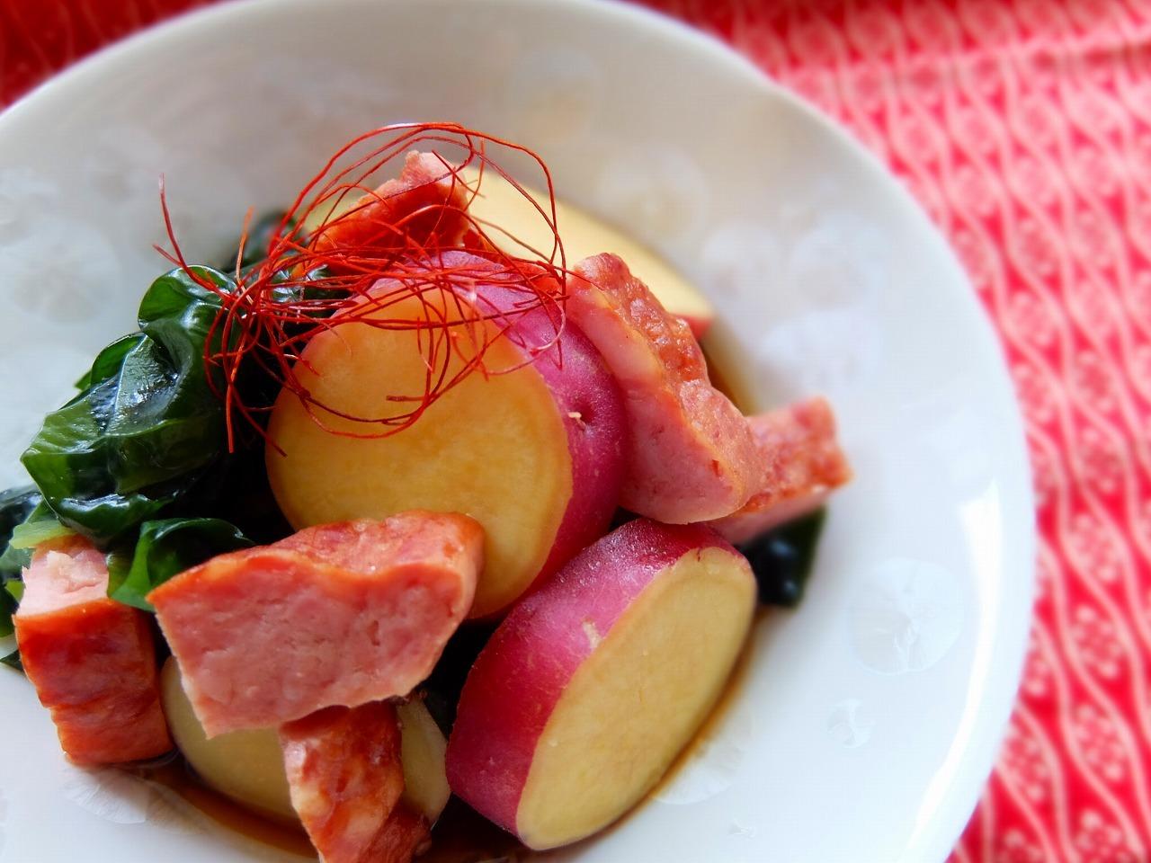 あらびきミートローフとさつま芋の炊いたん♪_e0175443_17475378.jpg