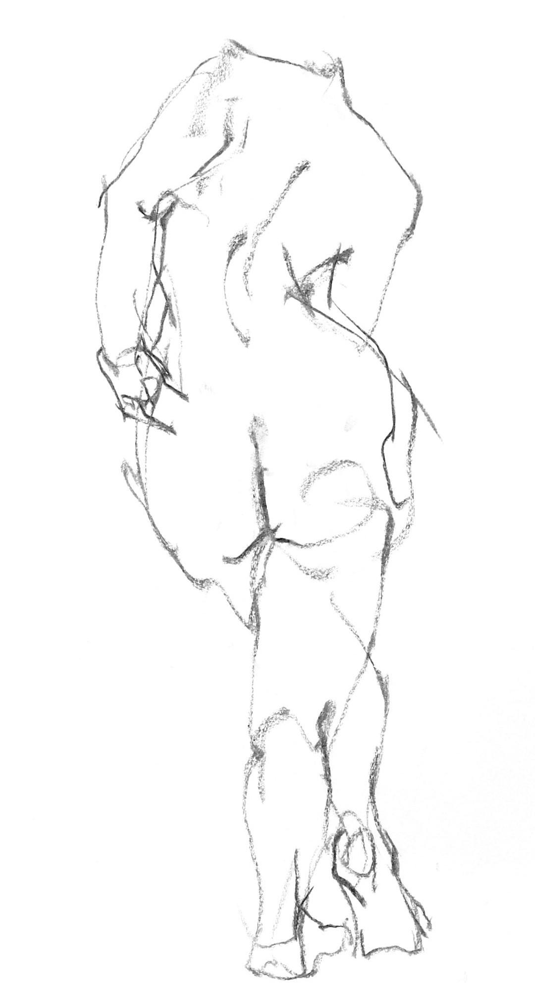《  秋の始めの 裸婦線描 90秒  》  5_f0159856_08142967.jpg