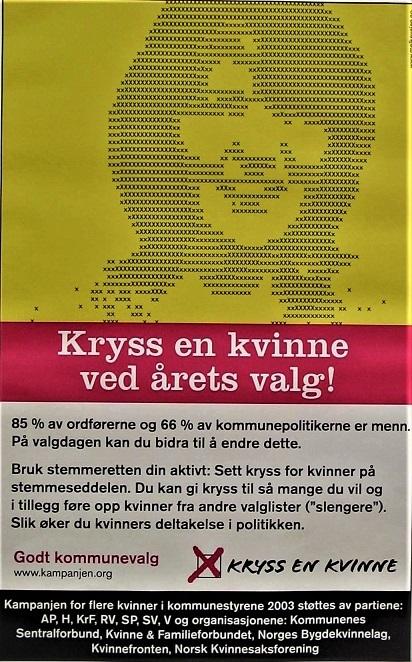 投票方法をうまく使って女性議員増へ(ノルウェー)_c0166264_00154096.jpg