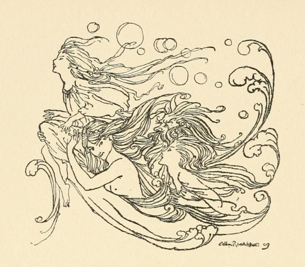 1909年 アーサー・ラッカム画のウンディーネ_c0084183_10344755.jpg