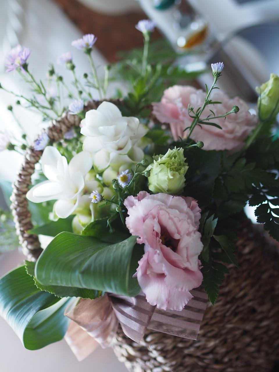 ケアハウスにでお花クラブでした_d0144095_12111720.jpg