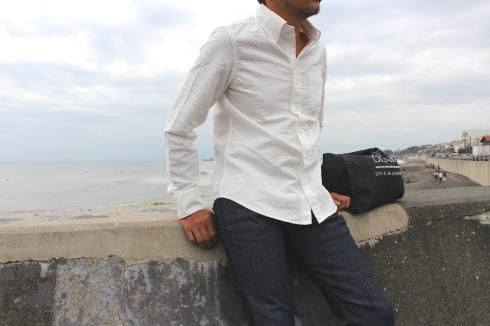シンプルに見えて…実は・・・なホワイトシャツ 新作できました♪_d0108933_14523549.jpg