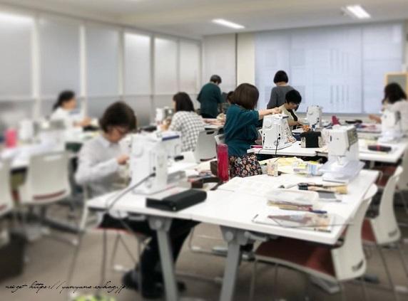 【ヴォーグ学園東京校】生徒さんの布合わせでラミネートトート完成♪_f0023333_22415550.jpg