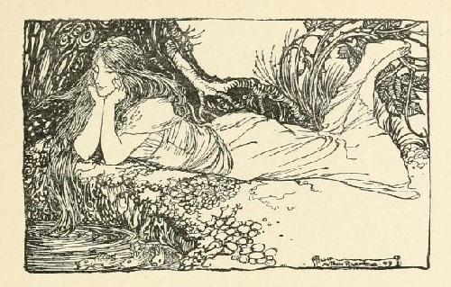 アーサー・ラッカム画のウンディーネからペン画を_c0084183_16083338.jpg