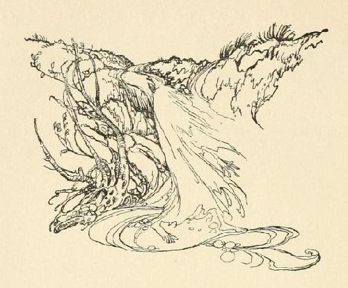 アーサー・ラッカム画のウンディーネからペン画を_c0084183_16084478.jpg