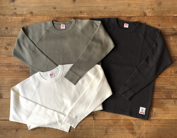 【DELIVERY】 STANDARD CALIFORNIA - Heavyweight Honeycomb Thermal Long Sleeve_a0076701_14191960.jpg