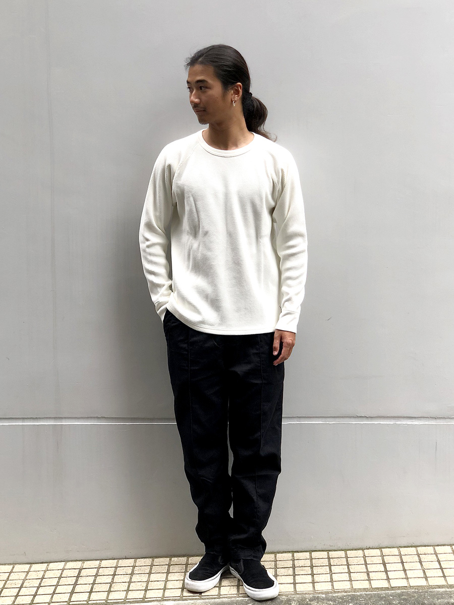 【DELIVERY】 STANDARD CALIFORNIA - Heavyweight Honeycomb Thermal Long Sleeve_a0076701_14224994.jpg