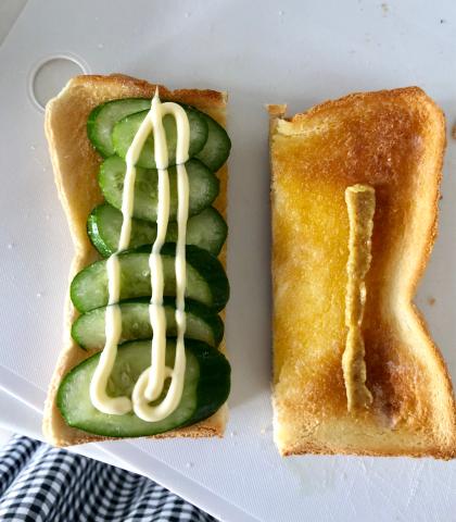 【さつま揚げサンドイッチ】を作ってみたよ。_b0099226_09340399.jpg