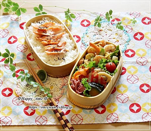 エビとアスパラ卵の中華炒め弁当とあたしのランチ♪_f0348032_16332699.jpg