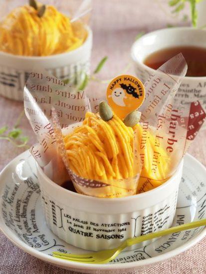 日々のお菓子作り~かぼちゃのモンブラン_c0213947_19100707.jpg