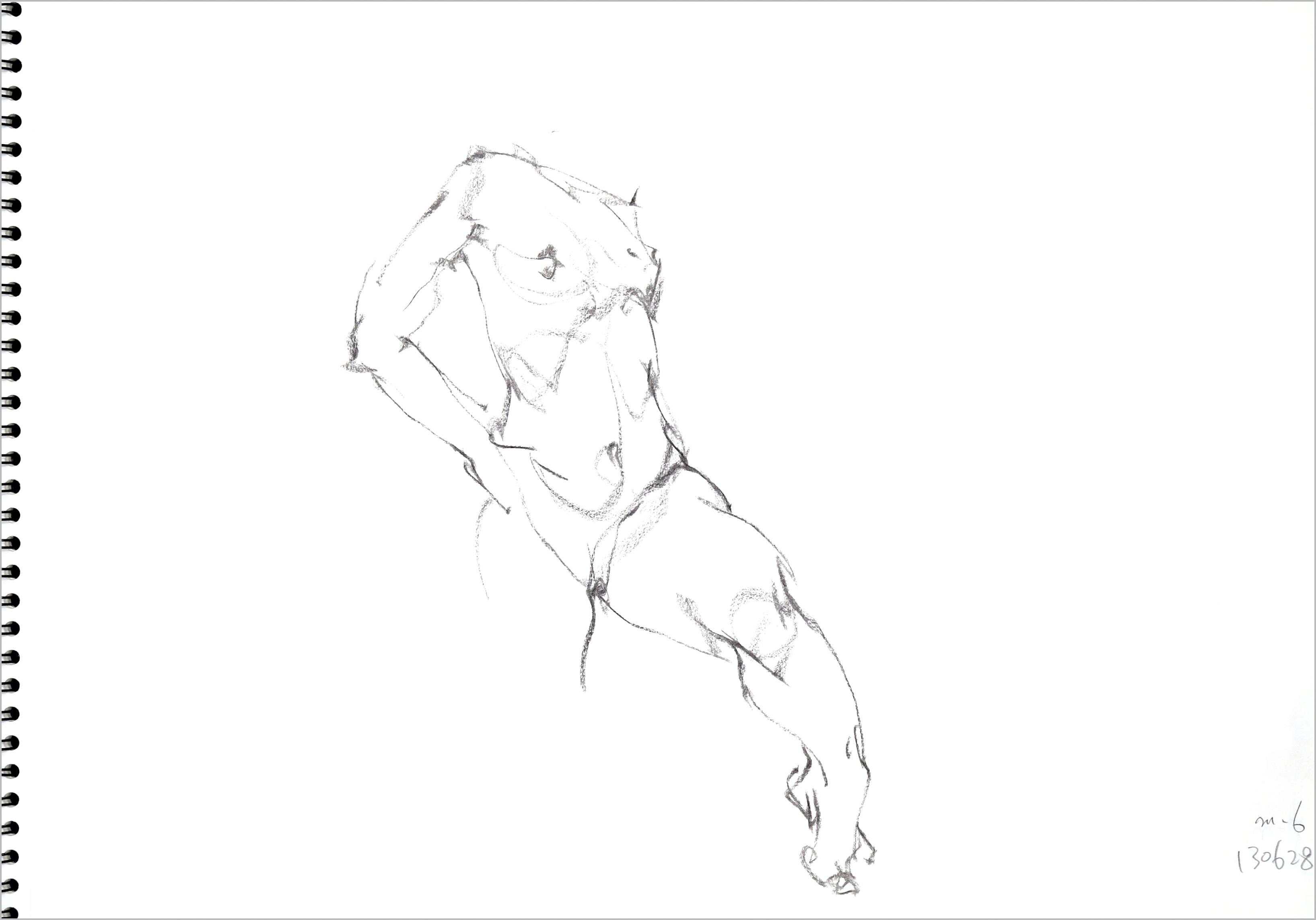 《  秋の始めの 裸婦線描 90秒  》  7_f0159856_07554738.jpg