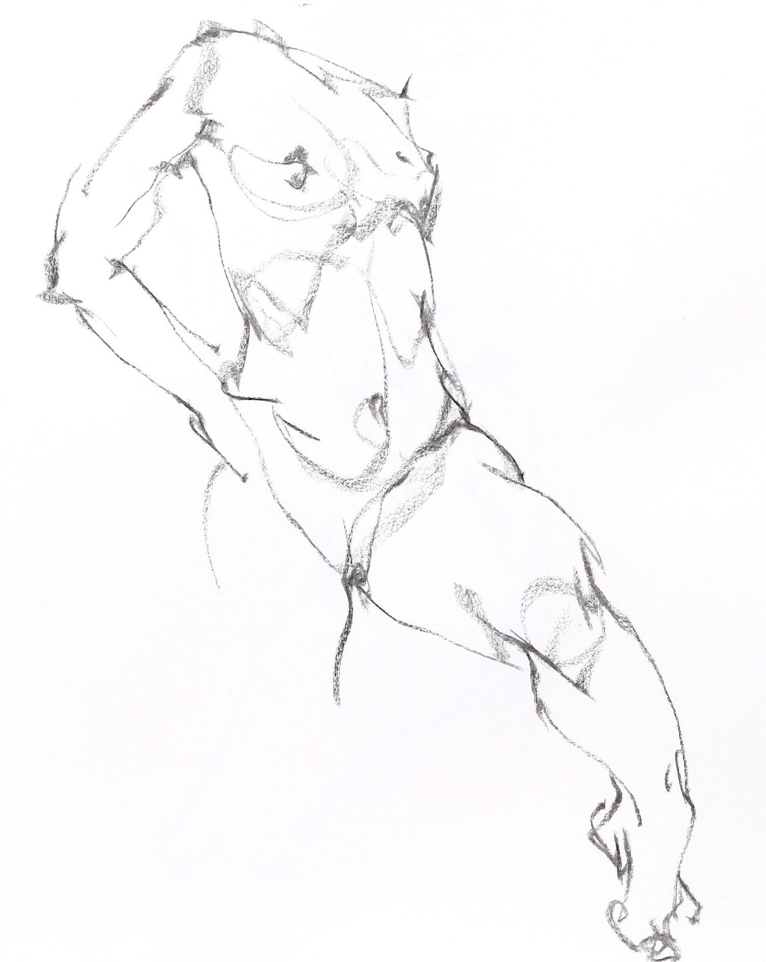 《  秋の始めの 裸婦線描 90秒  》  7_f0159856_07555504.jpg