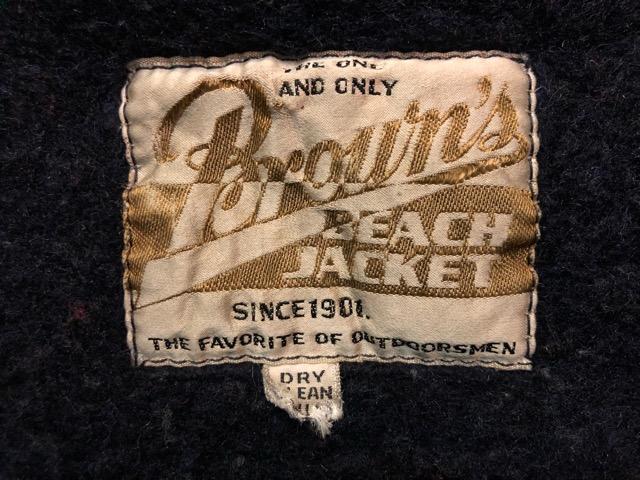 """9月25日(水)マグネッツ大阪店 冬物ヴィンテージ入荷!!#6 \""""BROWN\'S BEACH\""""編!1950\'s Jacket & Vest!!_c0078587_20293080.jpg"""