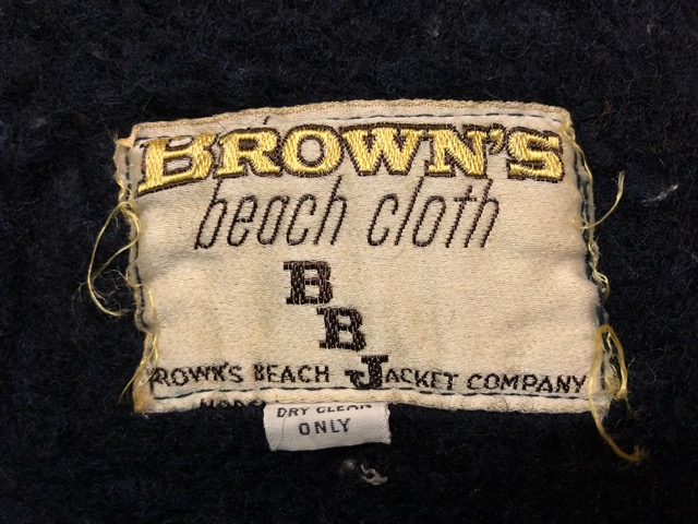 """9月25日(水)マグネッツ大阪店 冬物ヴィンテージ入荷!!#6 \""""BROWN\'S BEACH\""""編!1950\'s Jacket & Vest!!_c0078587_21181684.jpg"""